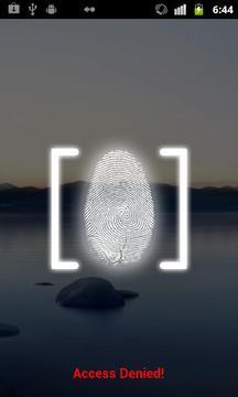 指纹锁定屏幕