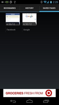 Galaxy Browser for ICS