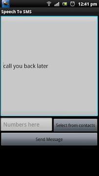 Speech To SMS
