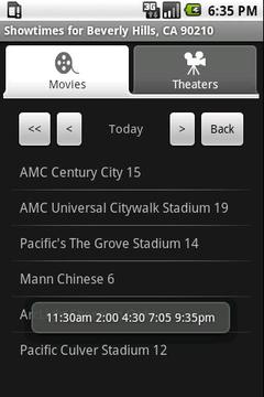 Movie Showtimes