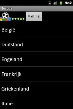 Europa Voetbal Geschiedenis