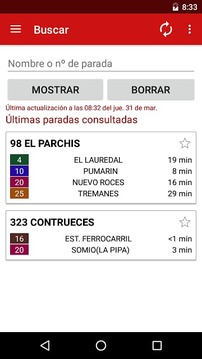 Gijón en bus