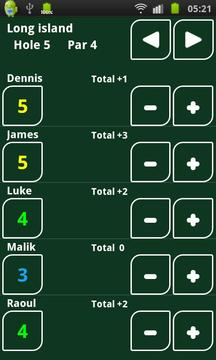 Golf Scorecard( Pad版)