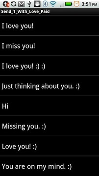 "1 Touch ""Love You"" SMS Texting"