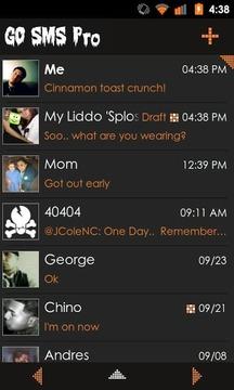Go SMS Theme Orange Minimal