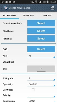 Anaesthesia Logbook-Log4ASLite