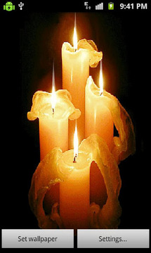 3D Candle Light Live Wallpaper