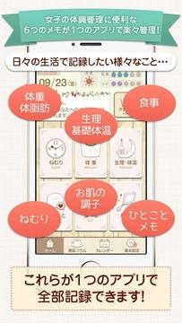 ミーメモ:生理/体重/食事/睡眠など1つのアプリで简単メモ!