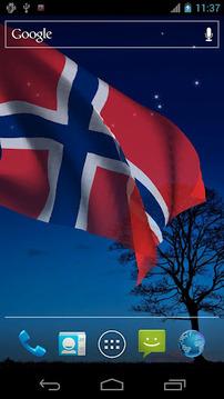 3D挪威国旗的LWP