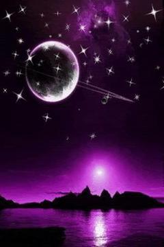 Purple Sky Howl Live Wallpaper