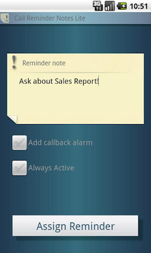 Call Reminder Notes Lite