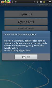 Turkce Trivia Oyunu Bluetooth