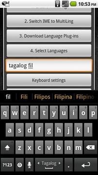 Tagalog Keyboard Plugin