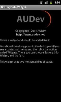 Battery Info Widget
