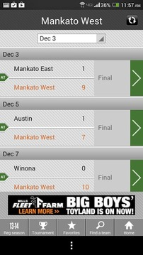 Boys' Hockey Scoreboard