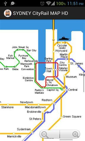 悉尼城铁地图(高清版)下载