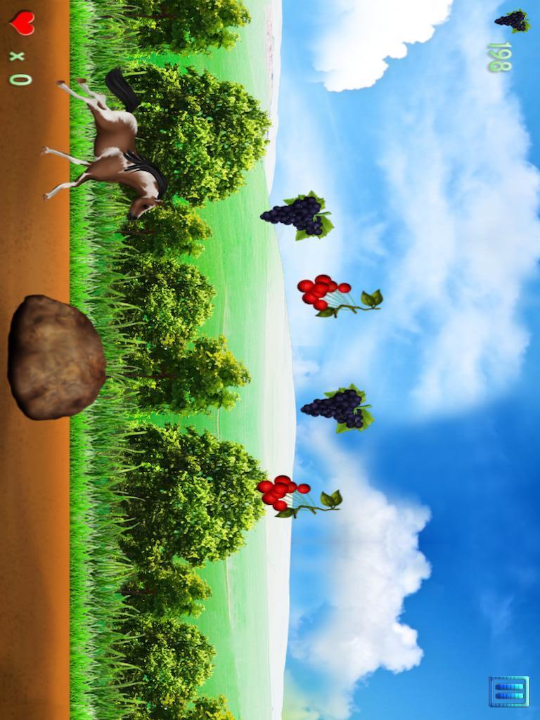 控制小可爱小马 避免在您的方式一切障碍 收集尽可能多的水果,以解开