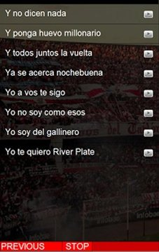 River Plate Cantos del tablón