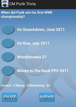 Wrestling - CM Punk Trivia