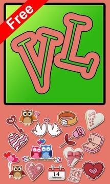 Free Valentine Sticker Line