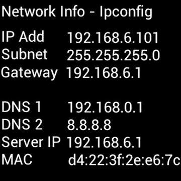 Ipconfig - Network Info