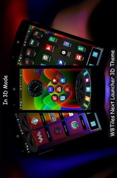 W8Tiles Next Launcher Theme 3D