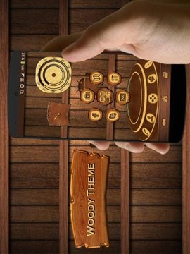 WoodyHD Next Launcher 3D Theme