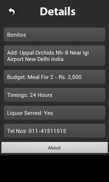 Delhi Night Restaurants FInder