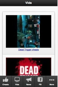 Dead Trigger Cheats & More