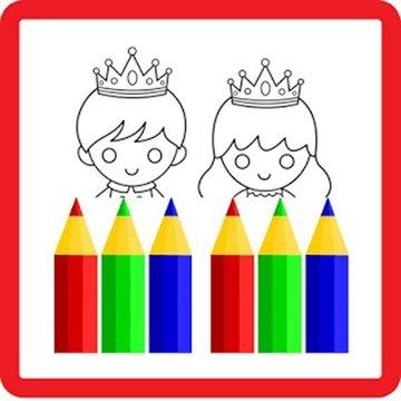 Prince&Princess Coloring Kids