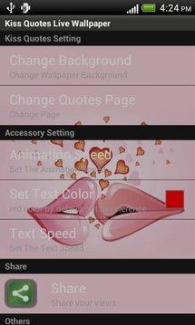 Kiss Quotes Live WallPaper