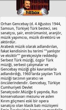 Orhan Gencebay Hit Box