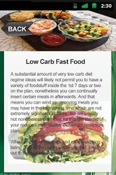 Low Carb Fast Food