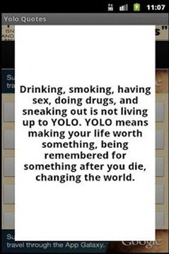 YOLO Quotes and Sayings