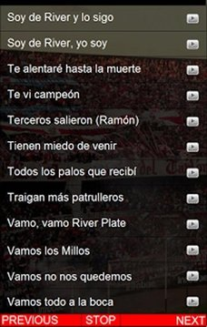 River Plate Cantos del tablón