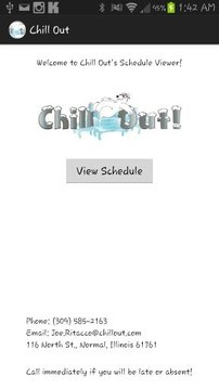 Chill Out Schedule Viewer