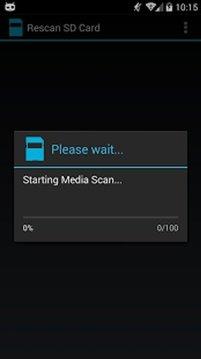 SD Card Rescan