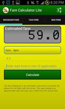 Fare Calculator Lite