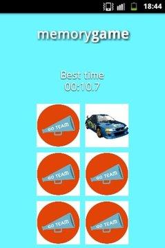 Racing Cars Memory Game