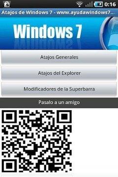 Atajos de teclado de Windows 7