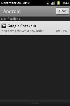 Google Checkout Notifier Trial