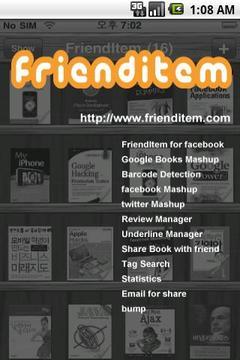 FriendItem - Social Book Servi