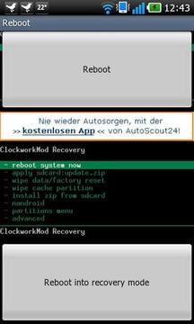 Optimus 2X recovery reboot