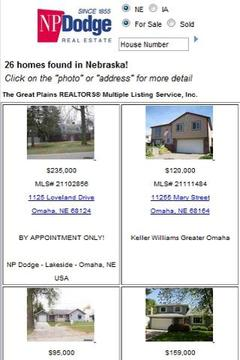 NP Dodge Real Estate Search