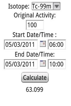 Nuclear Medicine Calculator