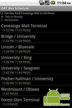 GRT巴士时间表应用程序