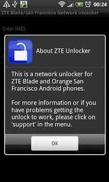 ZTE Blade/San Francisco Network Unlocker