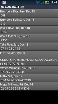 Delaware Lottery Droid Lite