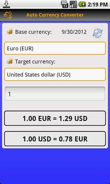 Auto Currency Converter