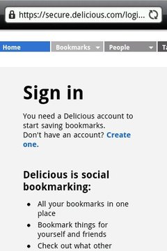 Delicious.com的书签